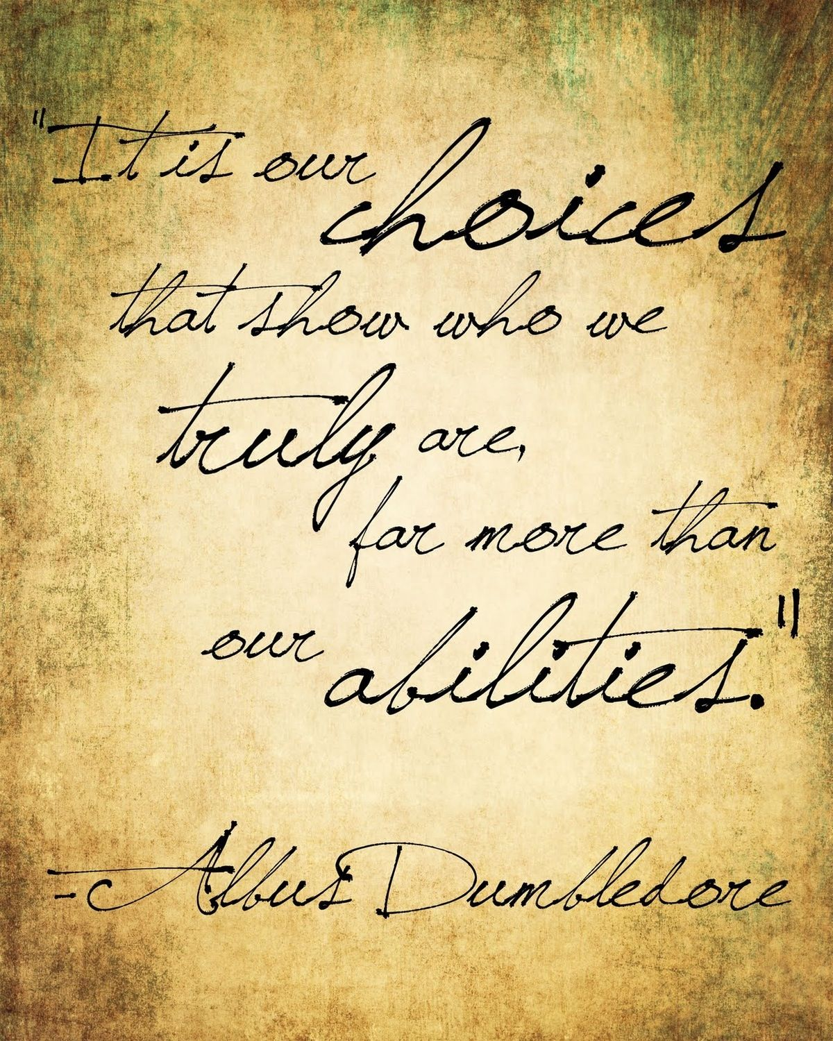 Albus Dumbledore Quote from Harry Potter | Favorite Quotes ...