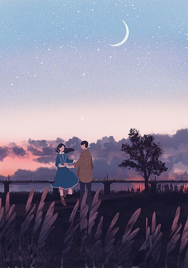 Pin By Zeyneb Guner On Anime Romantic Art Cute Couple Drawings Scenery Wallpaper Iphone aesthetic anime couple wallpaper