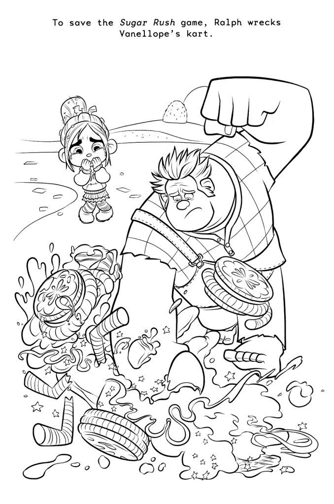 Wreckit Ralph Coloring Pages Disney Coloring Pages