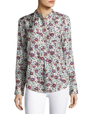 2f2b5d7020f Isabel Marant Rusak Vine-Print Silk Blouse | Products | Blouse, Silk ...