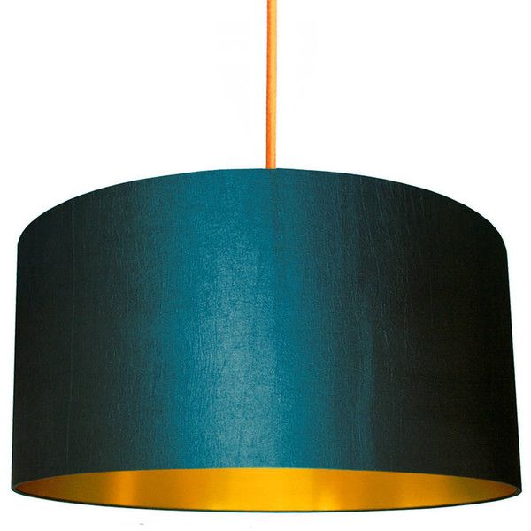 Love Frankie Gold Or Copper Lined Lampshade In Petrol Blue Lamp Shade Gold Lamp Shades Blue Lamp