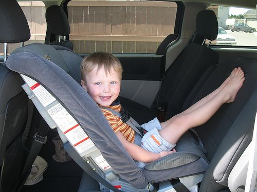 Rearfacing the carseat until at least 2 is 500 safer than