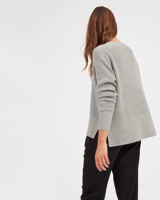 babf1be654 The Waffle Knit Cashmere Square Crew - Everlane