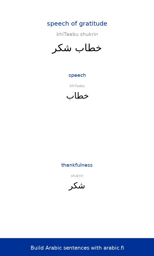 Learning Arabic Msa Fabienne The Arabic Idafa Speech Of Gratitude Described And Analyzed An Idafa Co Arabic Sentences Arabic Phrases Learn Arabic Language