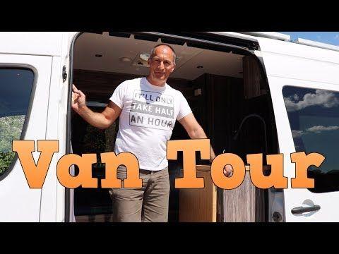 Greg Virgoe's Mercedes Sprinter Van Tour - YouTube   Van