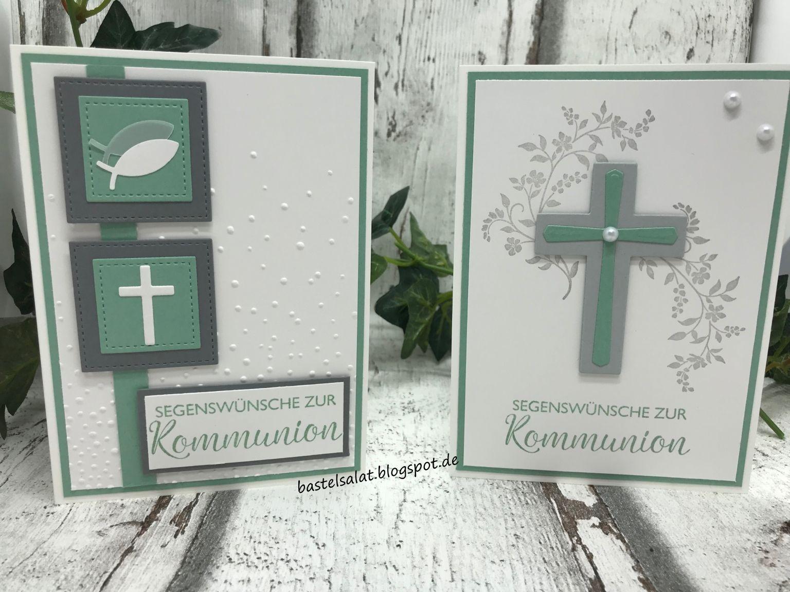Glückwünsche zur Kommunion #stampmaking