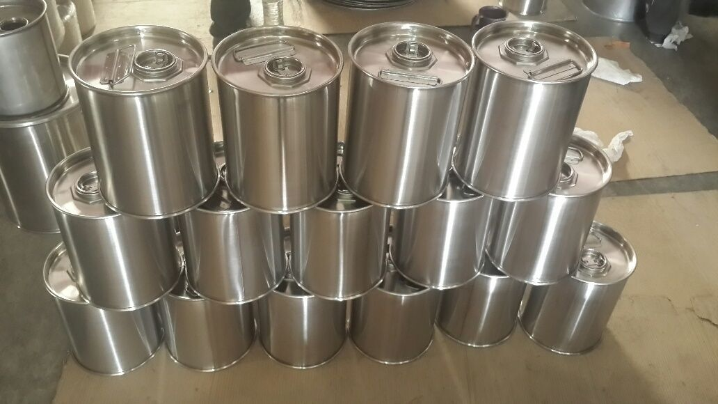 New Small Stainless Steel Drums Now In Stock 1 5 Gallon Visit Www Usedstainles Stainless Steel Table Legs Stainless Steel Drum Stainless Steel Accessories