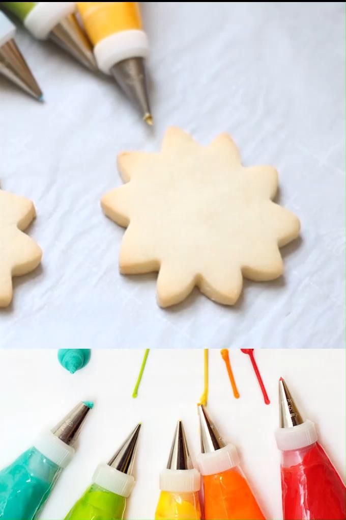 How to make easy ROYAL ICING RECIPE with meringue powder for cookie decorating, my 20 year old recipe. Tips, tricks, and video how-tos included. #royalicingrecipe #royalicing #cookiedecorating