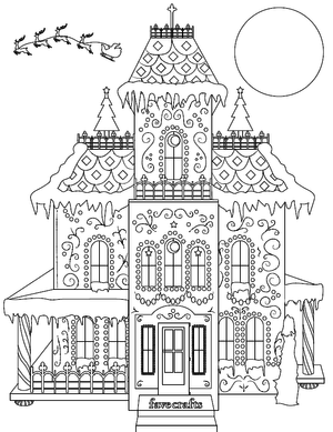 Breathtaking Gingerbread House Coloring Page Pdf House Colouring Pages Coloring Pages Christmas Coloring Pages