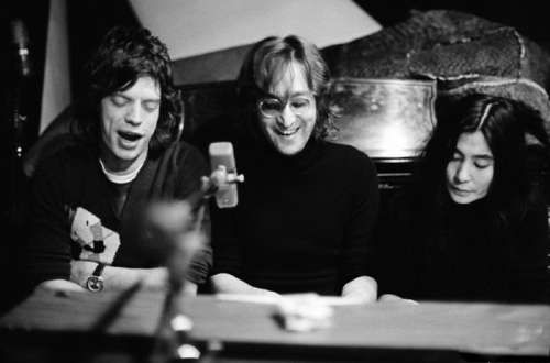 Mick, John and Yoko