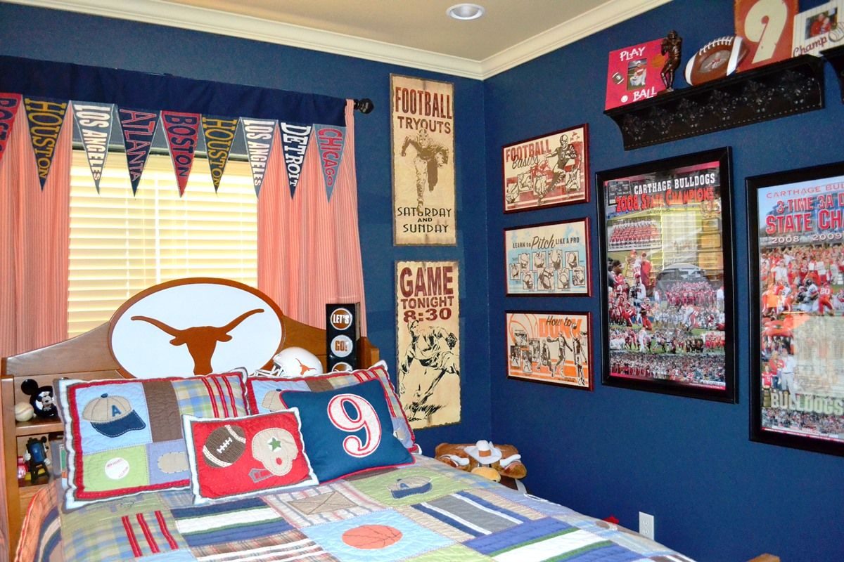 Best Sport Boys Room Decorating Sports Themed Bedroom Kids Sports Room Boy Sports Bedroom