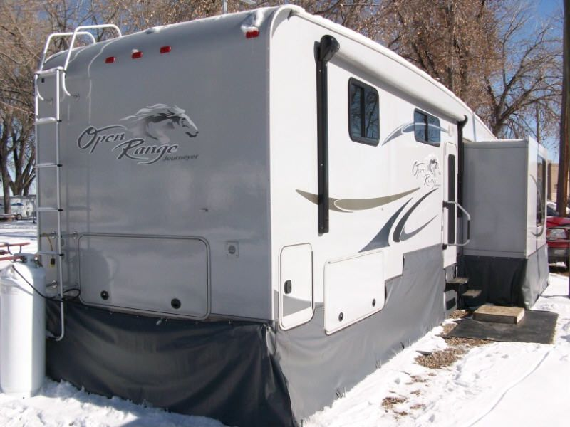 Open Range Trailer Skirt Travel Trailer Decor Rv Winterizing Camping Glamping
