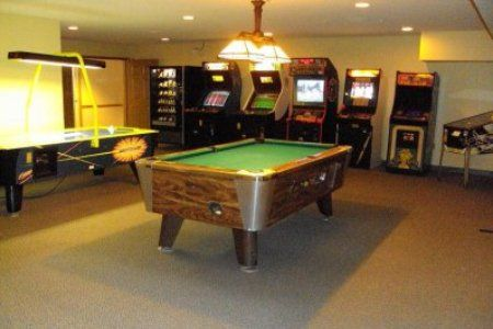 Home Arcade With Pool Table Air Hockey Pinball Old School - Old school pool table