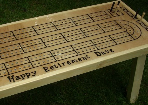 Personalize Your Cribbage Board Table
