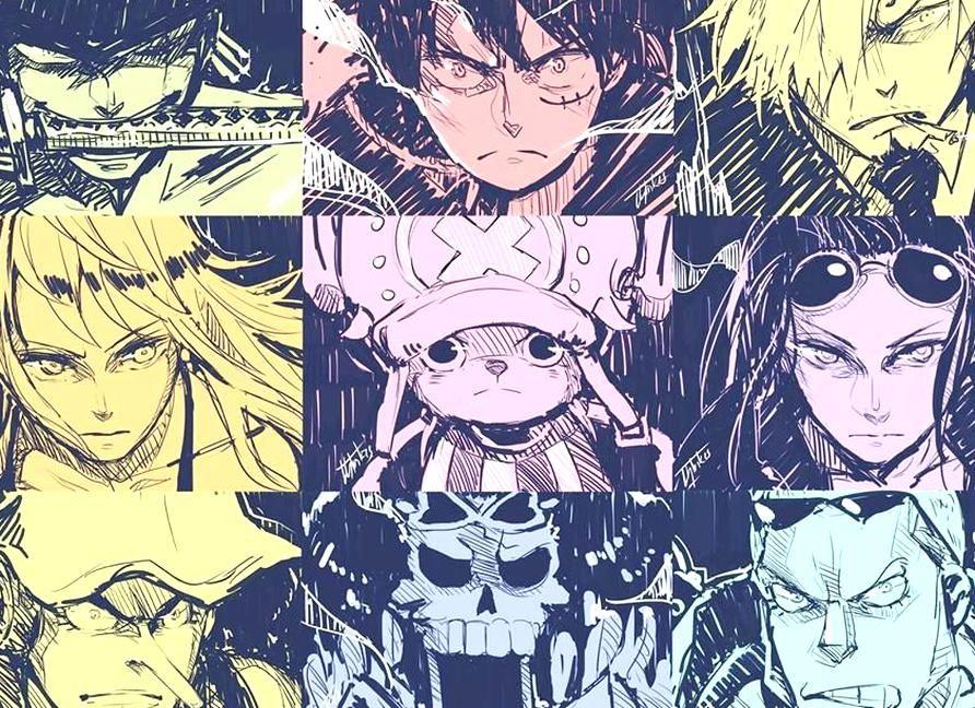 one piece fanart mugiwarastrawhat pirates one piece fanart one piece crew one piece manga