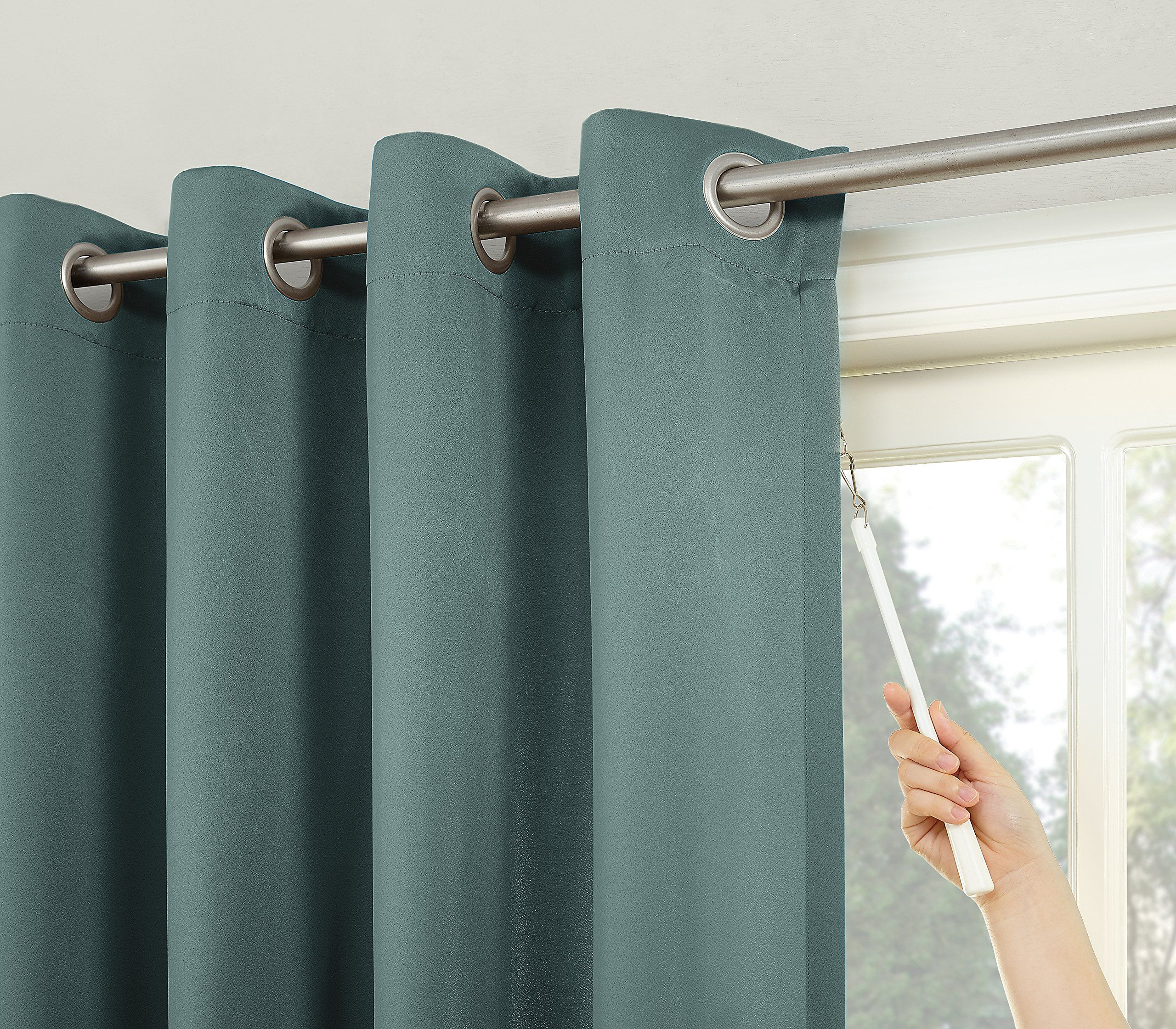 Sun Zero Easton Blackout Patio Door Curtain Panel 100 X 84 Mineral Green Continue To The Product At The Pho Panel Curtains Sliding Patio Doors Door Curtains