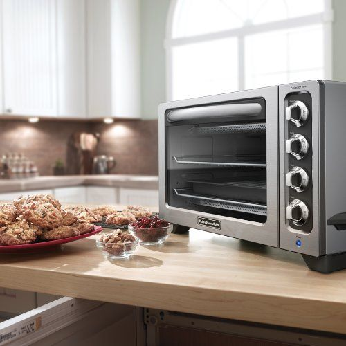 Kitchenaid Convection Countertop Oven The Kitchenaid 12 Inch Convection Countertop Oven Offers A Spacious Capacity Wh Countertop Oven Toaster Oven Kitchen Aid