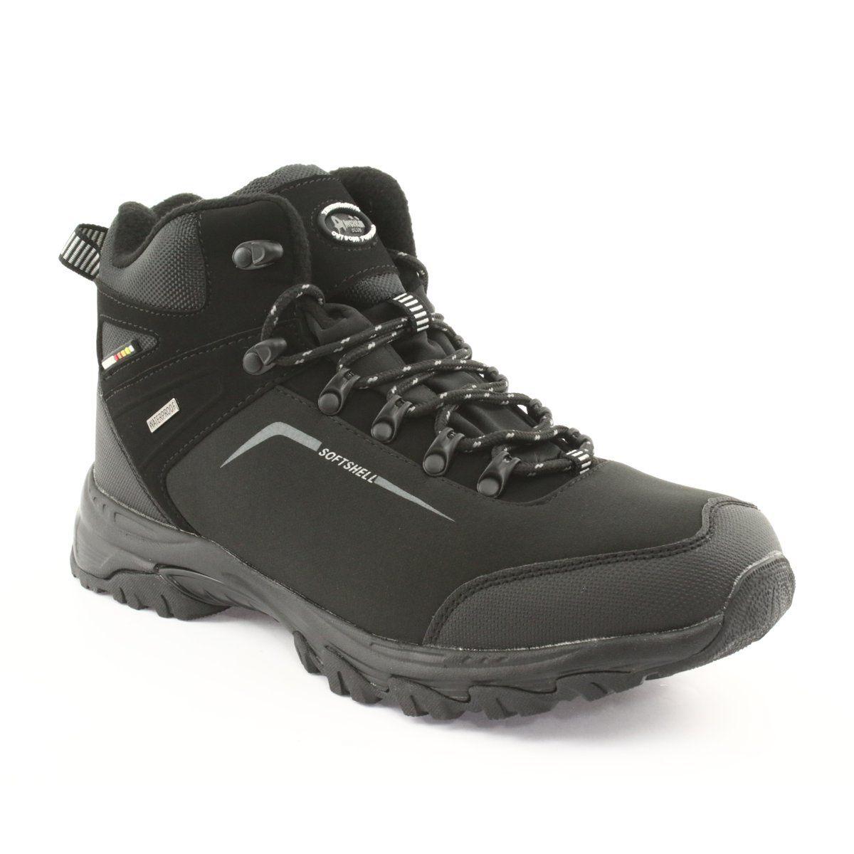 American Club American Trekkingi Buty Zimowe Z Membrana Czarne Hiking Boots Boots Shoes