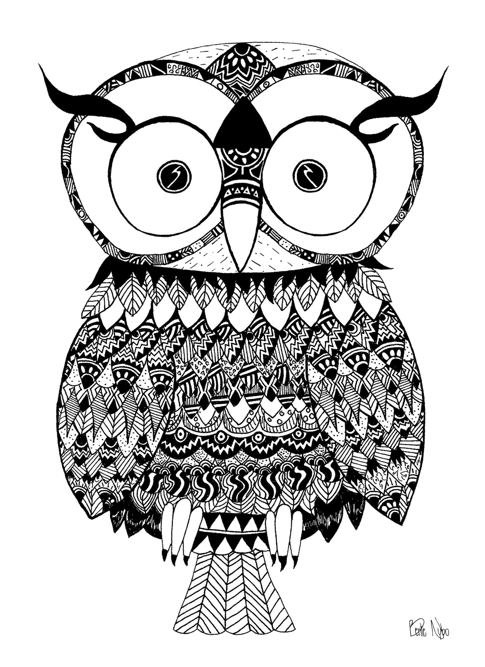 Awesome for the living-room or kids room.  Scandinavian Trendy.    Tribal Inka Owl #inka #Owl#Drawing #pattern #tribal #Danish #Design #HandDrawn  #Nybo  #Plakat #Black #White #Poster #Plakat #Scandinavia #NewNordic #Nordic #HandDrawn #HooHoo #Ugle #TilSalg #PlakatKunst 150 DKK