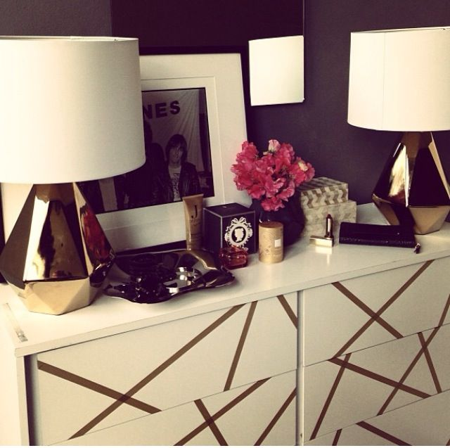 Ikea malm attacked with washi tape love it diy for Cassette ikea
