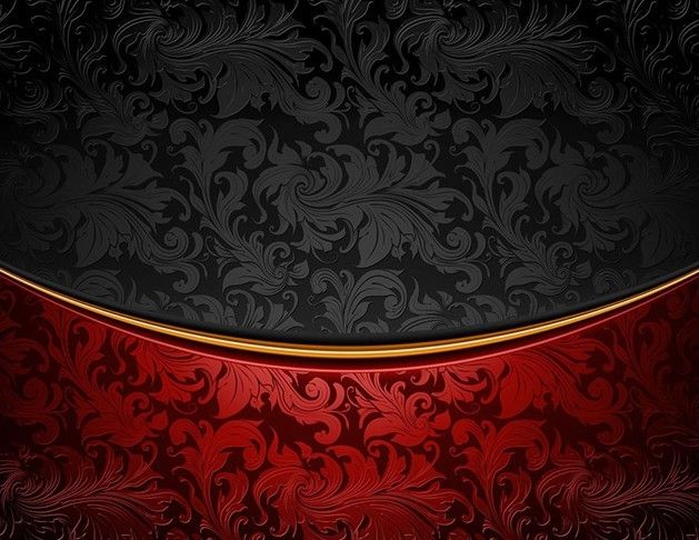 Vintage Red Black Floral Background Vector Free Web