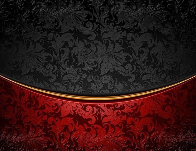 vintage red & black floral background vector | free web/graphic