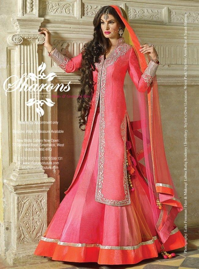 Simina - Raw silk long jacket sherwani with A shape lengha | Indian ...