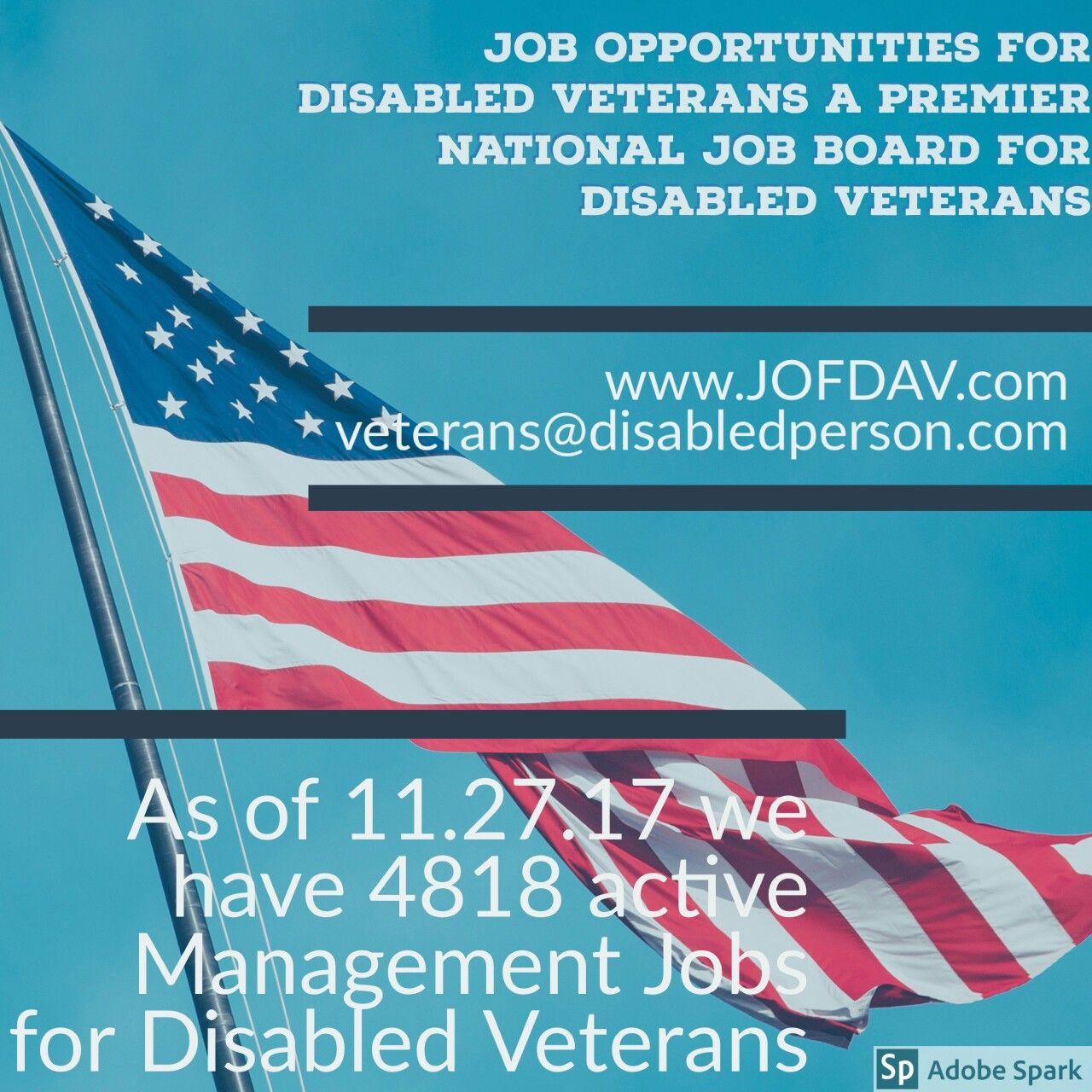 Job Opportunities for Disabled Veterans,