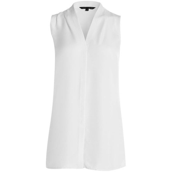DAY TO NIGHT TOP ($128) ❤ liked on Polyvore featuring tops, ruched top, ruched sleeveless top, sleeveless tops, layered tops and shirred top