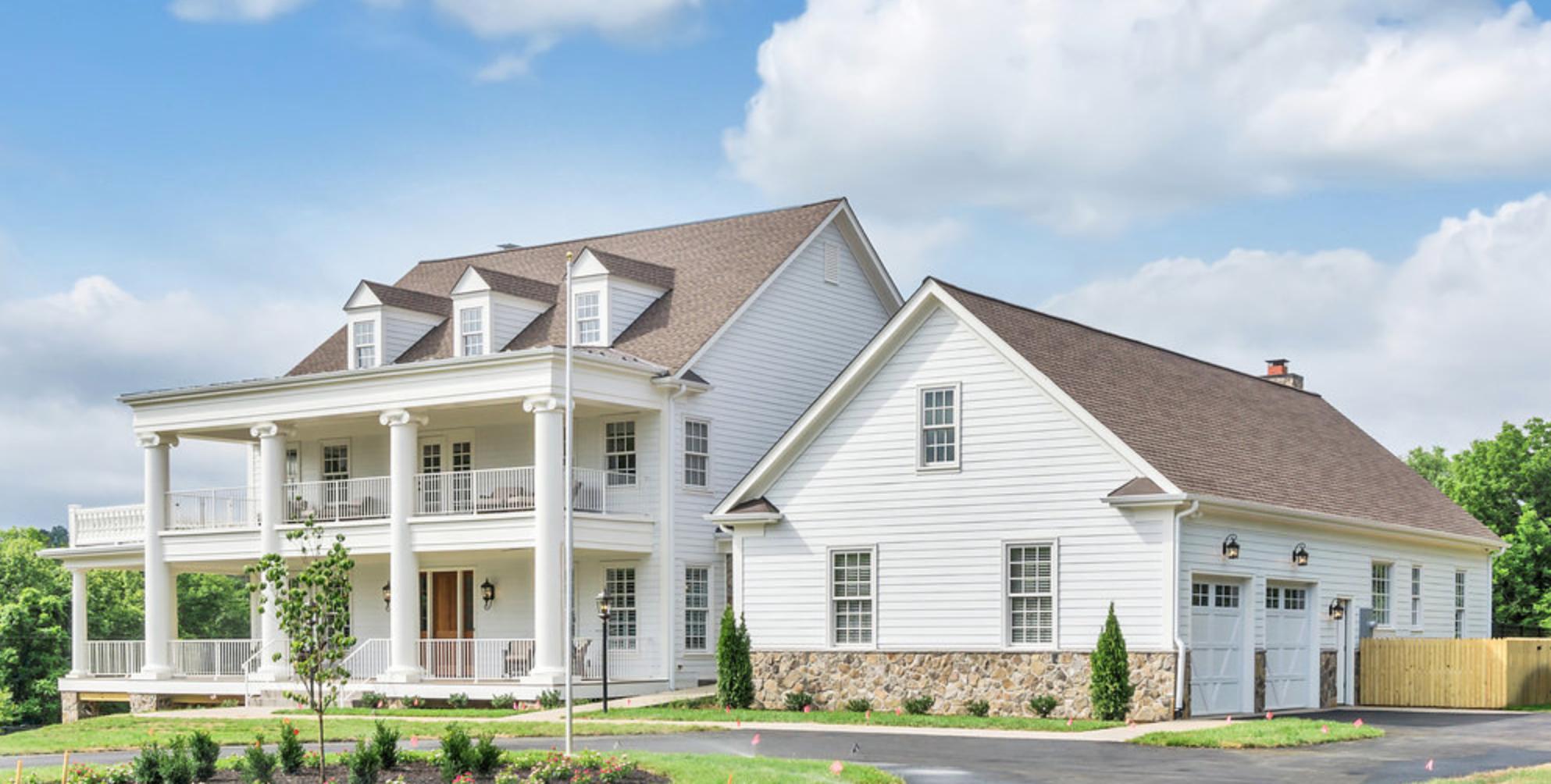 Modern Farmhouse In Charlottesville Va Dominion Custom Homes Custom Home Builders Custom Homes House Exterior
