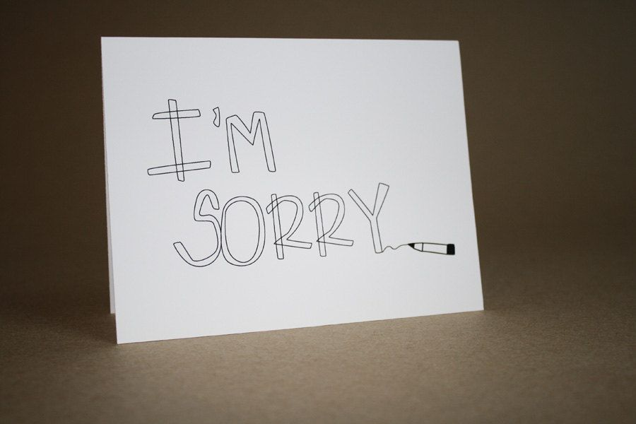 Im sorry card handmade greeting card thinking of you card love im sorry card handmade greeting card thinking of you card love m4hsunfo