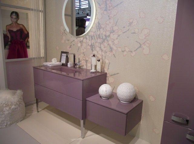 meuble salle de bains rose poudre - Peindre Un Meuble De Salle De Bain