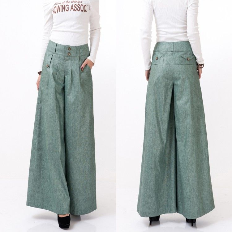 casual linen trousers wide leg pants | My Style | Pinterest | Wide ...