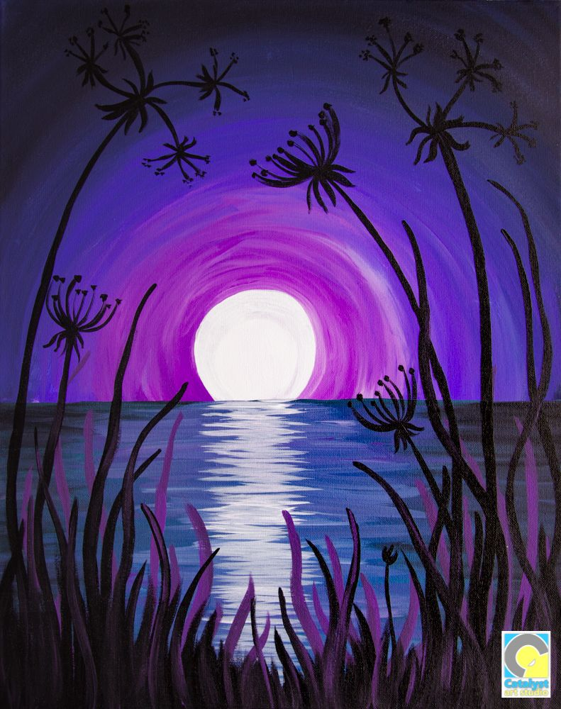 Moon Lace Sip And Paint Party Easy Canvas Painting Painting Acyrlic Painting