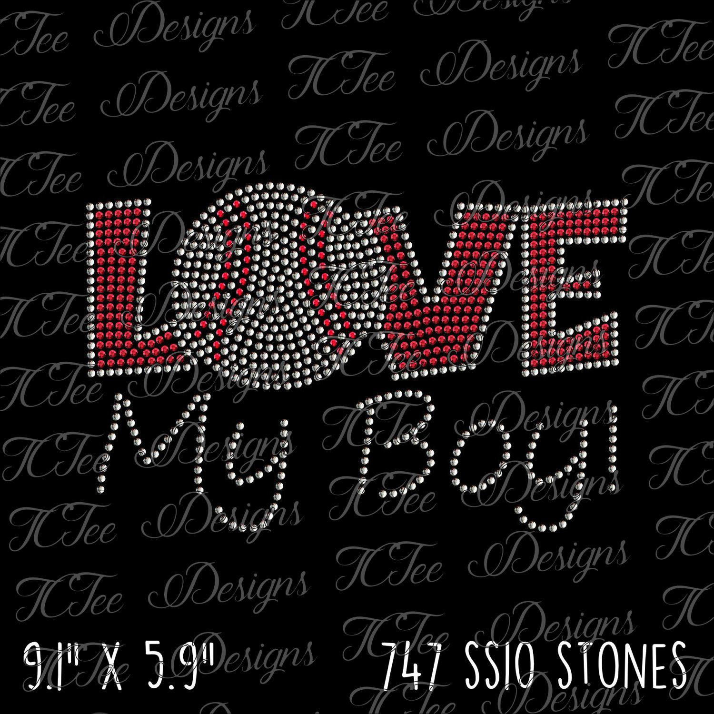 Download Love My Boy! - Baseball Mom - Rhinestone SVG - Baseball ...