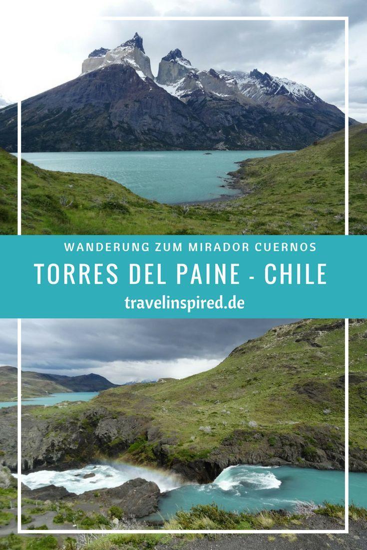Tipp für einen Tagesausflug in den Torres del Paine Nationalpark in Chile: Wanderung ab Pudeto zum Mirador Cuernos. Unterwegs kommst du an dem wunderschönen Wasserfall Salto Grande vorbei und triffst vielleicht ein paar Guanacos! Mehr Fotos und Wanderbeschreibung auf Travelinspired.de #wandern #miradorcuernos #torresdelpainenationalpark #torresdelpaine #tagesausflug #wanderung #saltogrande #wasserfall #patagonien #chile #wandertipp #travelinspired #reiseinspiration #südamerik