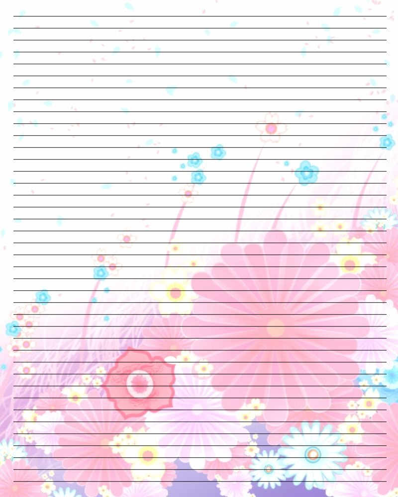 Doc711897 Printable Writing Paper with Lines Handwriting – Writing Lines Template
