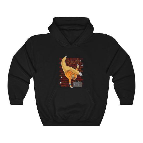 Breakdancing Sloth Hoodie, Funny Sloth Hoodie, Cute Sloth Hoodie, Sloth Lover Ho…