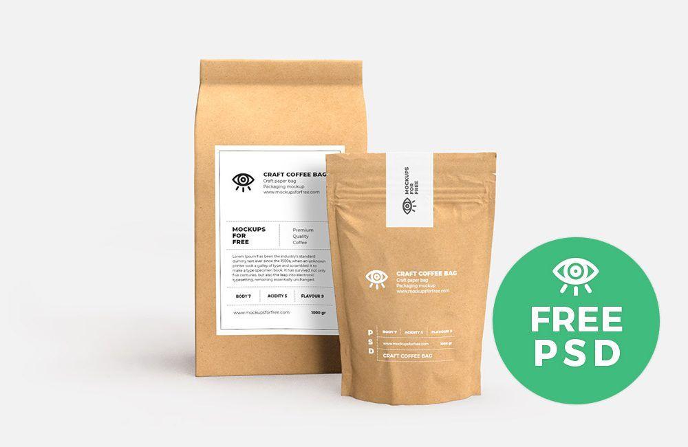 Craft Paper Bags Packaging Free Mockup Mockup Free Psd Design Mockup Free Free Mockup