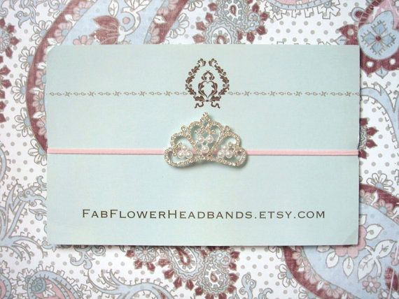 Rhinestone and Pearl Tiara on Skinny by fabflowerheadbands on Etsy