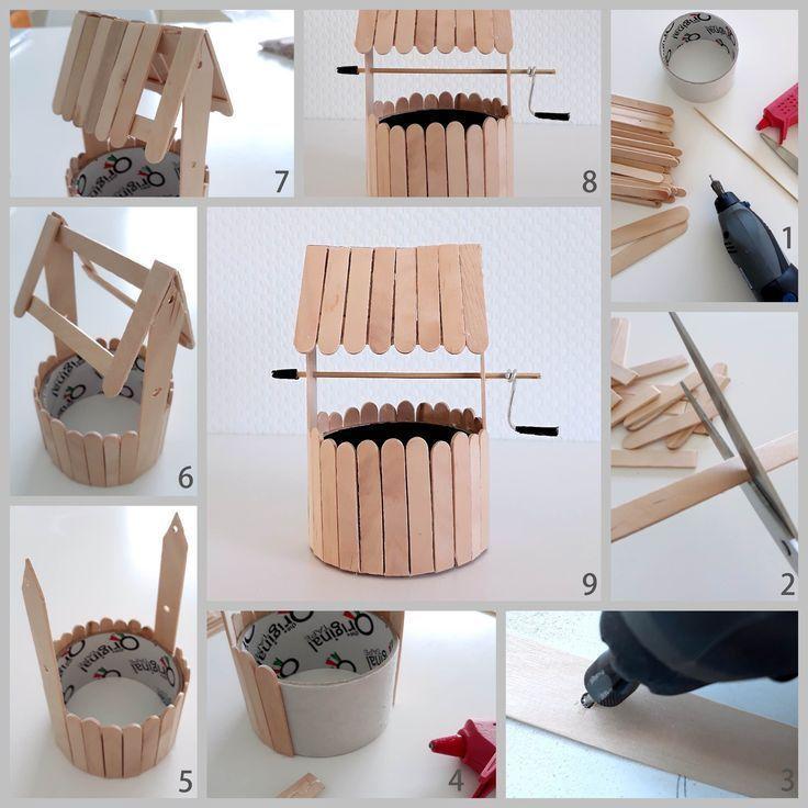 Recyceltes Kunsthandwerk für Kinder und Erwachsene, handgemachtes Vogelfutter …