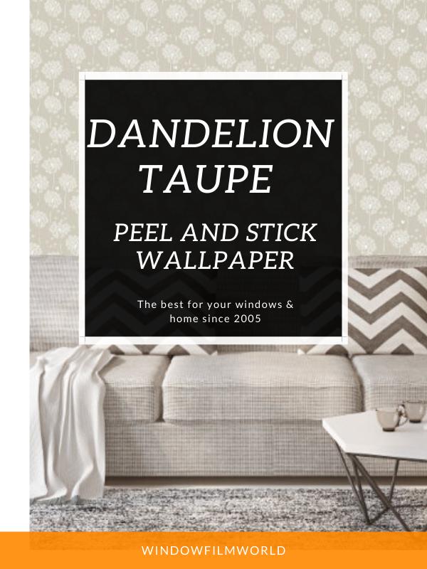 Dandelion Taupe Peel And Stick Wallpaper Peel And Stick Wallpaper Blogger Decor Design Repeats