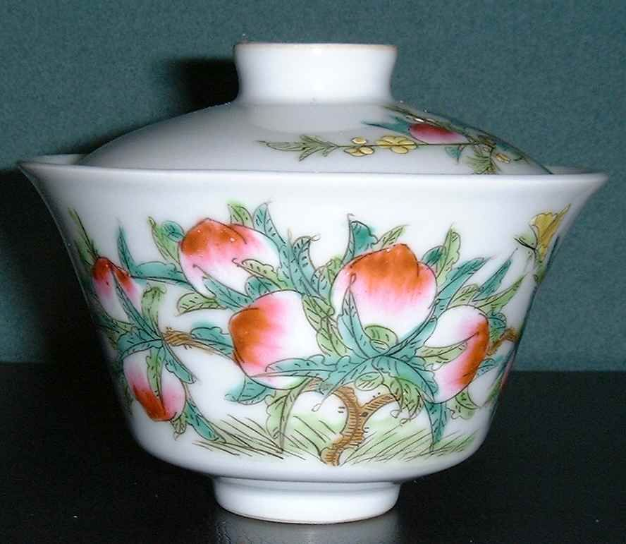 Chinese Tea Cup With Peach (longevity Design)
