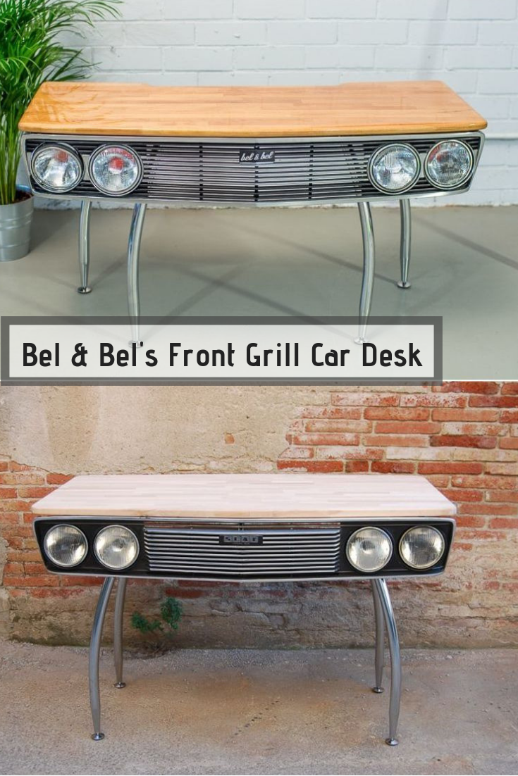 Bel & Bel Turns Front Grill of SEAT 132 into Car Desk