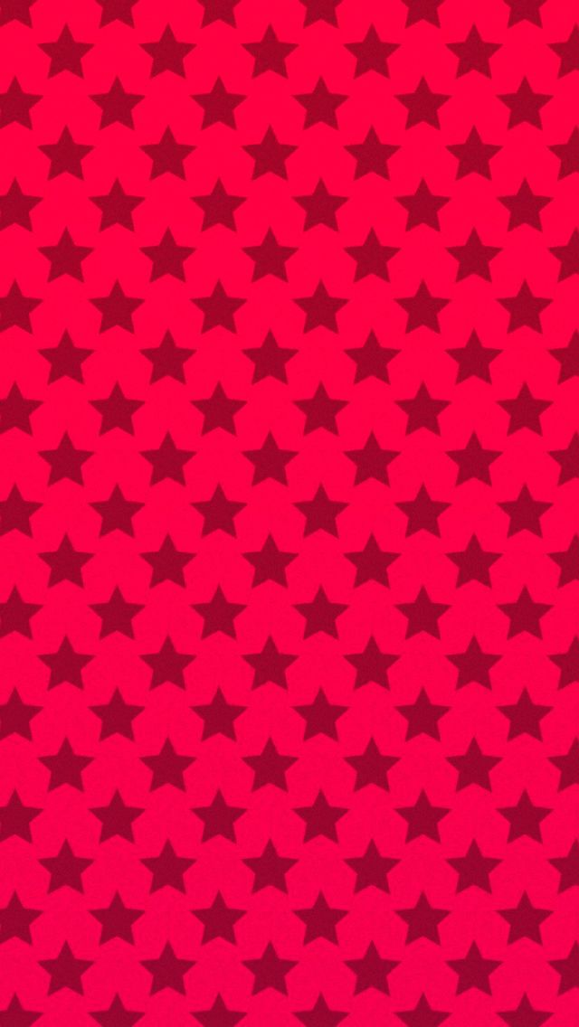 Red Stars Pattern Iphone Android Mobile Wallpaper