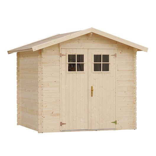 Abri de jardin en bois Hyva NATERIAL, 3.02 m², ép. 19 mm | Déco ...