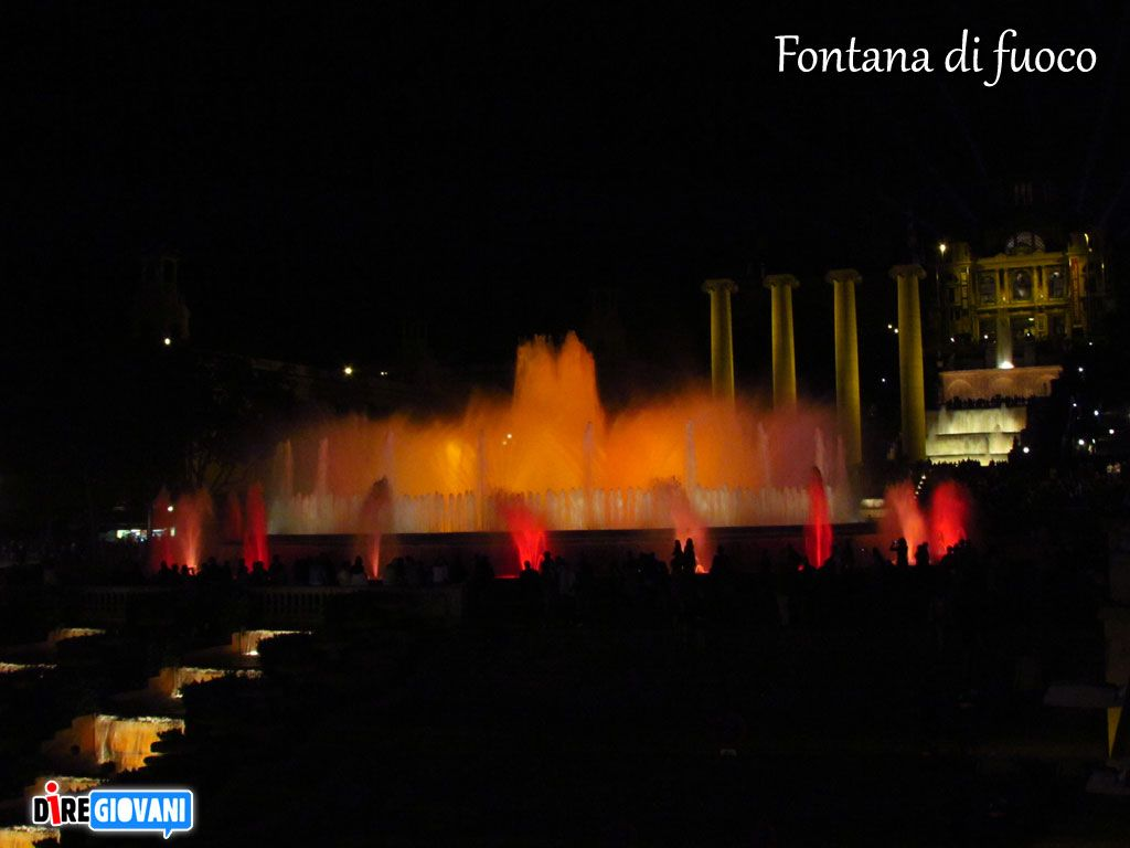 Fire magic fountain - Barcelona, Spain