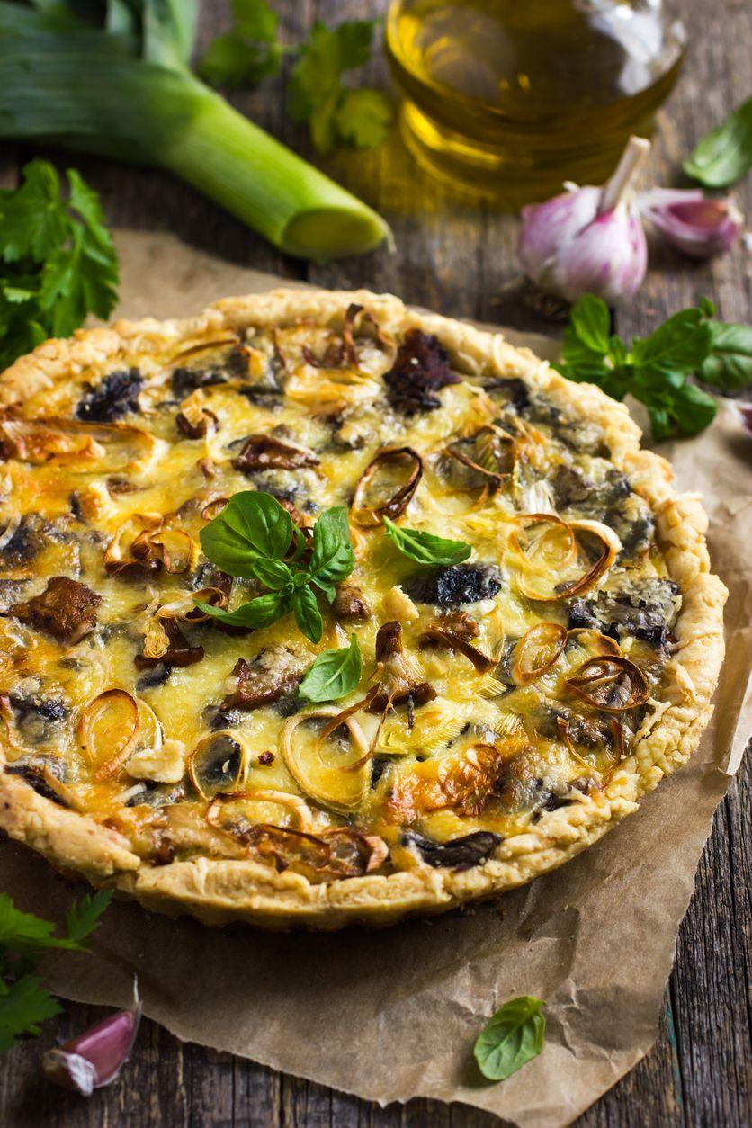 15-Minute Gluten-Free Mushroom & Leek Pesto Pizza   Food ...