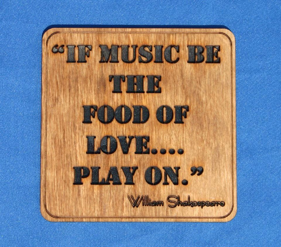 If music be the food of love...play on