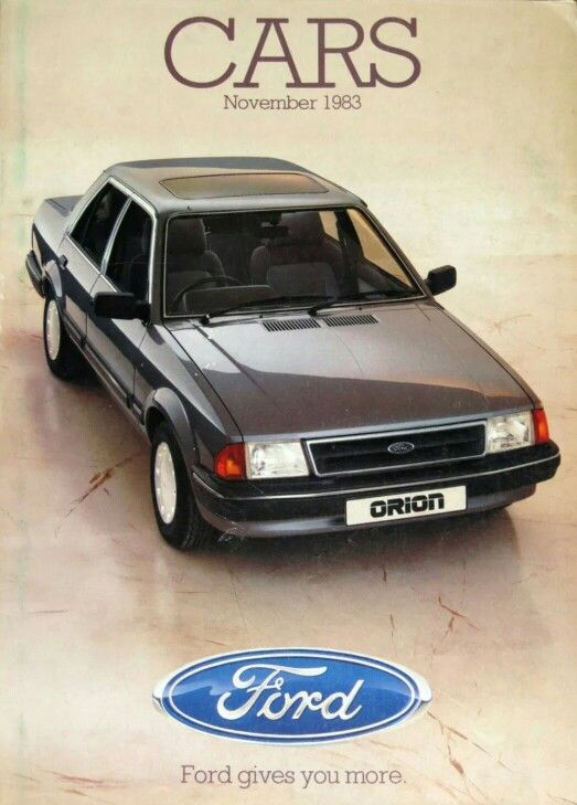 Ford Orion 1983 Ford Orion Ford Ford Motor